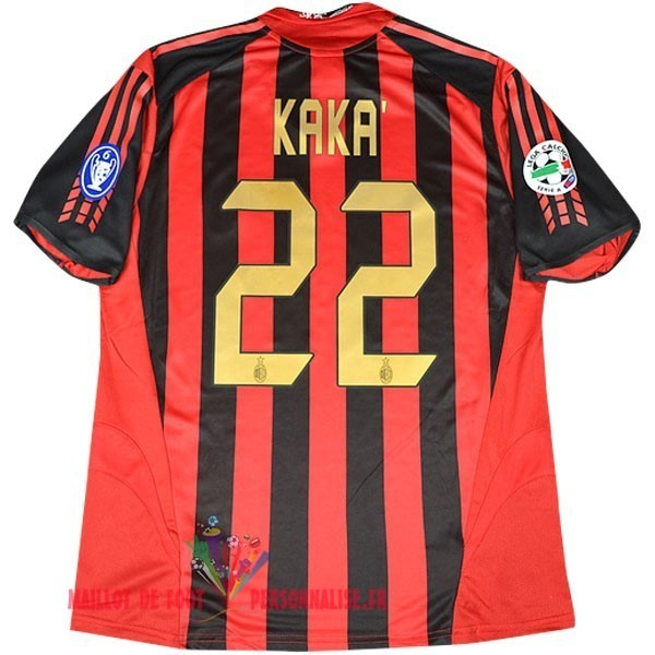 Maillot Om Pas Cher Adidas No.22 Kaka DomiChili Maillot AC Milan Vintage 2005 2006 Rouge