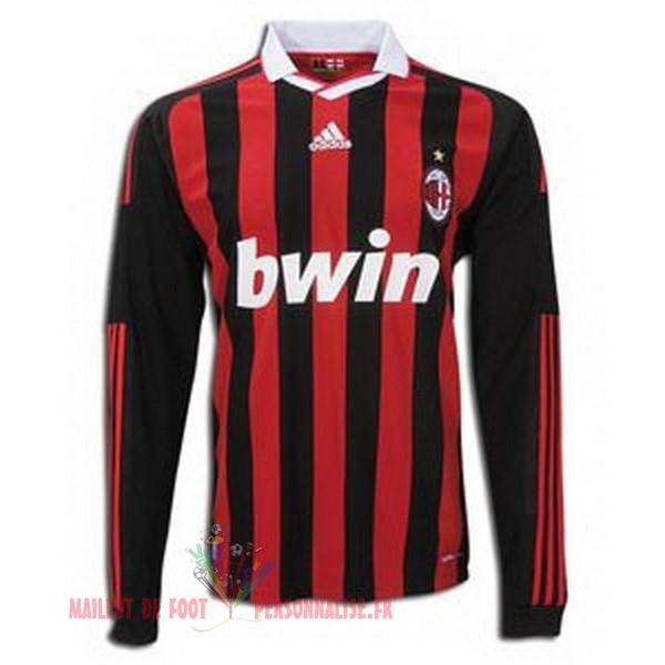 e0b6ac845a8ac Maillot Om Pas Cher adidas Domicile Manches Longues AC Milan Rétro 2009-2010  Rouge