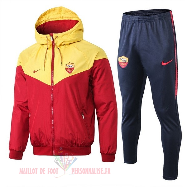 Maillot Om Pas Cher Nike Ensemble Coupe Vent AS Roma 2019 2020 Rouge