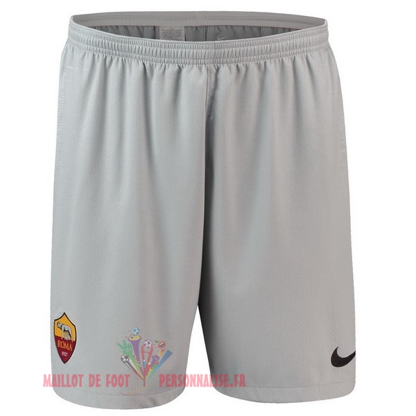 Maillot Om Pas Cher Nike Exterieur Shorts As Roma 2018-2019 Gris