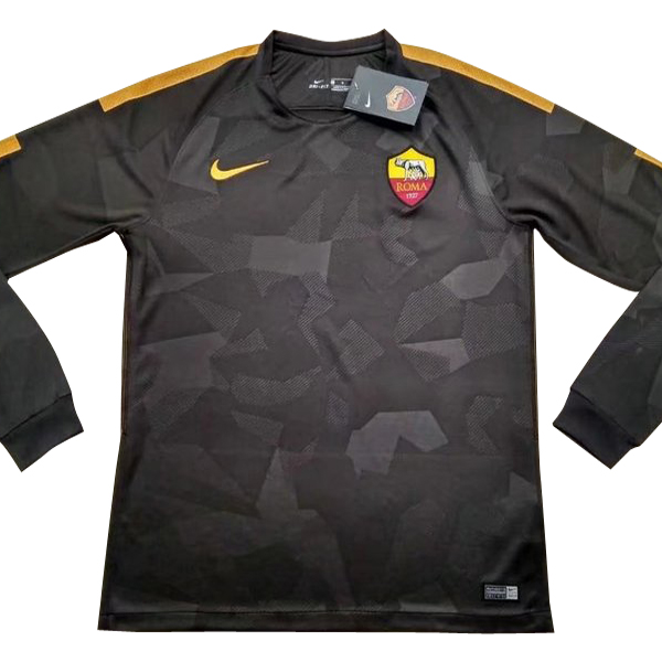 Maillot Om Pas Cher Nike Third Manches Longues As Roma 2017 2018 Noir