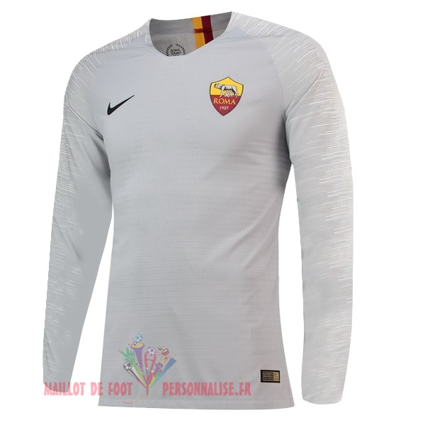 Maillot Om Pas Cher Nike Exterieur Manches Longues As Roma 18-19 Gris