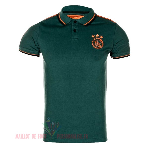 Maillot Om Pas Cher adidas Polo Ajax 2019 2020 Vert Orange
