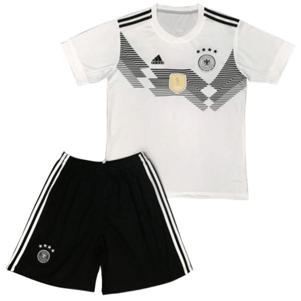 9a8d8b43e1add Maillot Om Pas Cher adidas Domicile Ensemble Enfant Allemagne 2018 Blanc