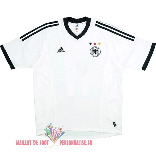 Maillot Om Pas Cher Adidas DomiChili Maillot Allemagne Vintage 2002 Blanc