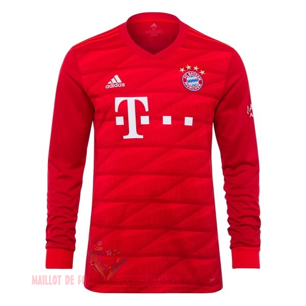 Maillot Om Pas Cher adidas Domicile Manches Longues Bayern Munich 2019 2020 Rouge