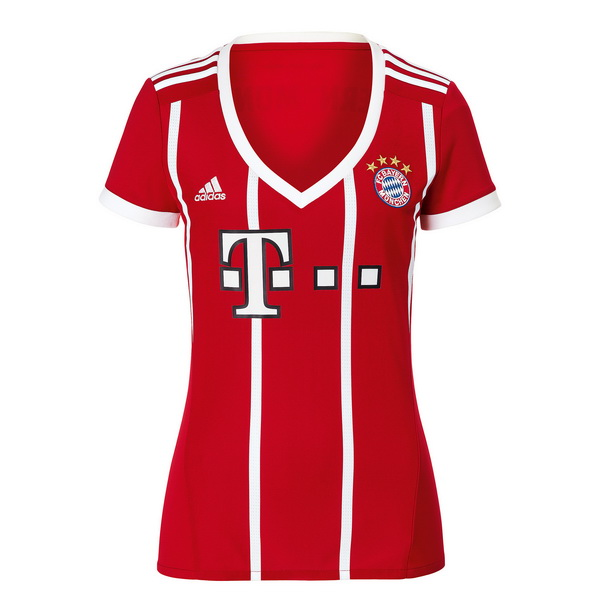 Maillot Om Pas Cher adidas Domicile Maillots Femme Bayern Munich 2017 2018 Rouge