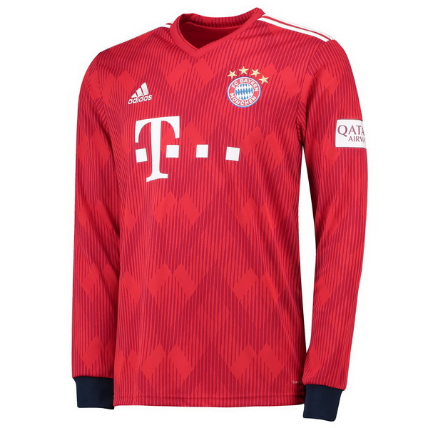 Maillot Om Pas Cher adidas Domicile Maillots Manches Longues Bayern Munich 2018 2019 Rouge
