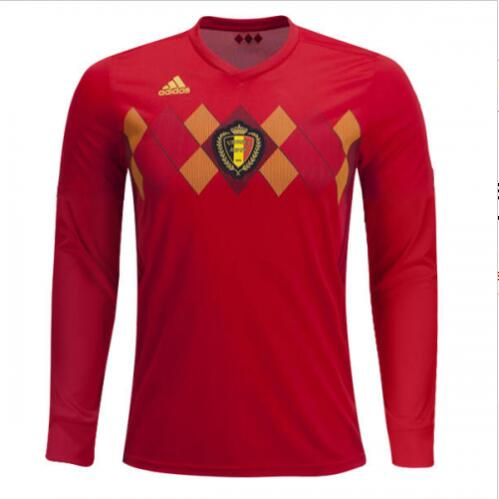 Maillot Om Pas Cher adidas Domicile Maillots Manches Longues Belgica 2018 Rouge
