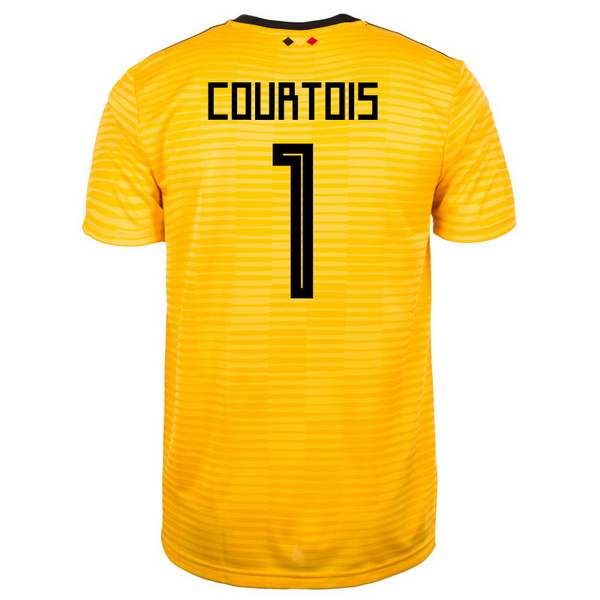 Maillot Om Pas Cher adidas NO.1 Courtois Exterieur Maillots Belgica 2018 Jaune