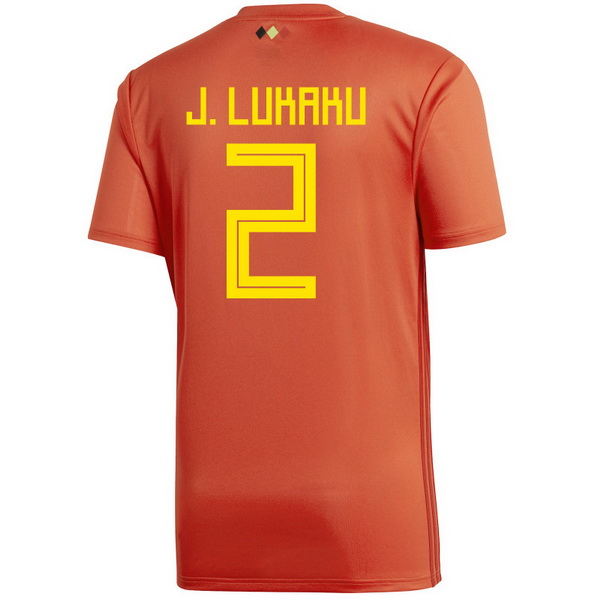 Maillot Om Pas Cher adidas NO.2 J.lukaku Domicile Maillots Belgica 2018 Rouge