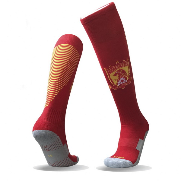 Maillot Om Pas Cher Nike Domicile Chaussettes Evergrande 2017 2018 Rouge