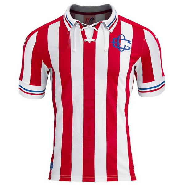 Maillot Om Pas Cher PUMA Domicile Maillots CD Guadalajara 100th Blanc Rouge