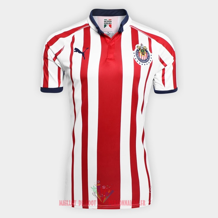 Maillot Om Pas Cher PUMA Domicile Maillots CD Guadalajara 2018-2019 Rouge