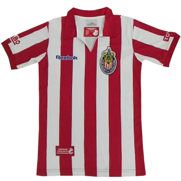 Maillot Om Pas Cher Reebok Domicile Maillots CD Guadalajara Rétro 2007 2008 Blanc Rouge