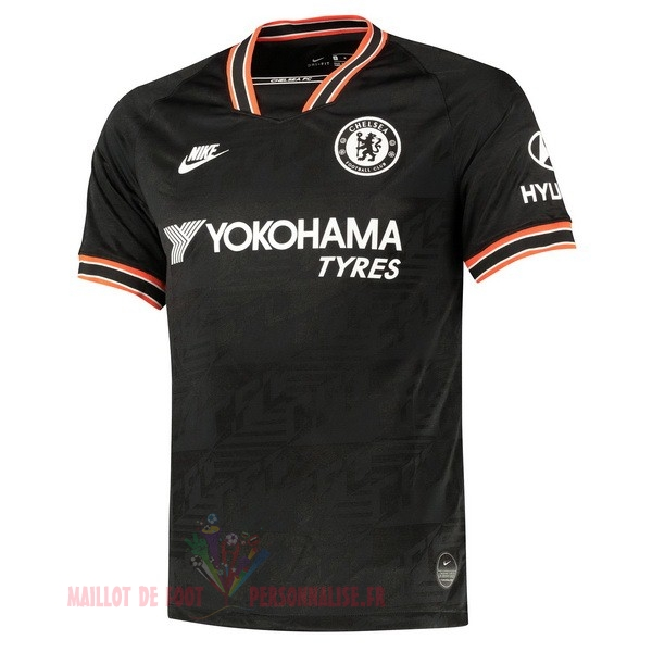 Maillot Om Pas Cher Nike Thailande Third Maillot Chelsea 2019 2020 Noir