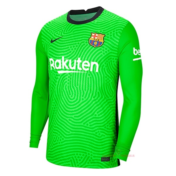 Maillot Om Pas Cher Nike Gardien Manches Longues Barcelona 2020 2021 Vert