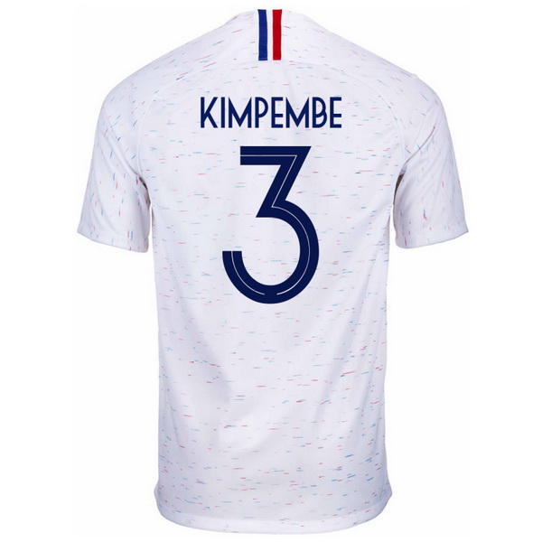 19a72dc8ad80d Maillot Om Pas Cher Nike NO.3 Kimpembe Exterieur Maillots France 2018 Blanc