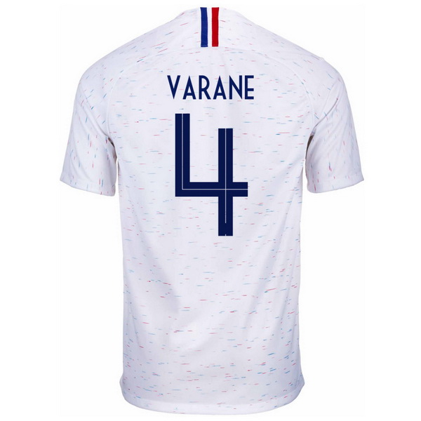 Maillot Om Pas Cher Nike NO.4 Varane Exterieur Maillots France 2018 Blanc