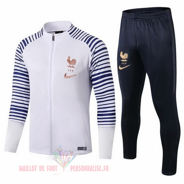 Maillot Om Pas Cher Nike Survêtements France 2019 Blanc Or