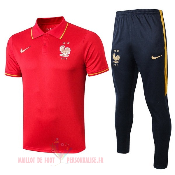 Maillot Om Pas Cher Nike Ensemble Polo France 2019 Rouge