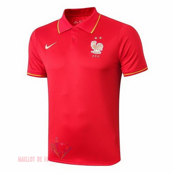 Maillot Om Pas Cher Nike Polo France 2019 Rouge