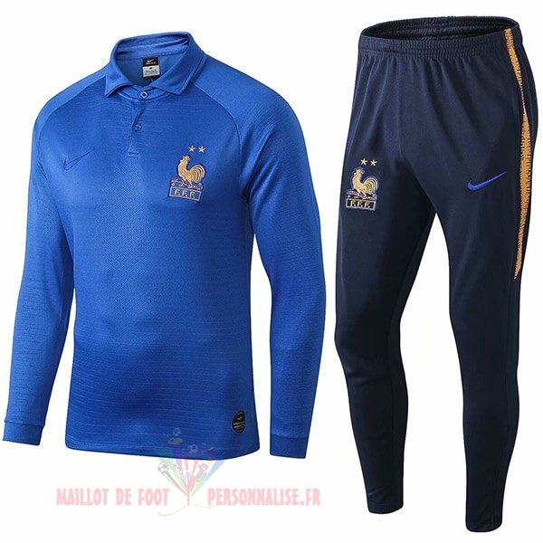 Maillot Om Pas Cher Nike Ensemble Polo France 100th Bleu