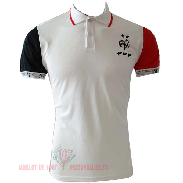 Maillot Om Pas Cher Nike Polo France 2019 Blanc Rouge