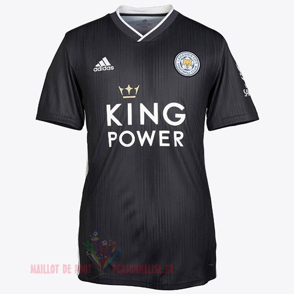 Maillot Om Pas Cher adidas Thailande Third Maillot Leicester City 2019 2020 Noir