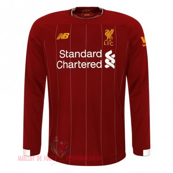 Maillot Om Pas Cher New Balance Domicile Manches Longues Liverpool 2019 2020 Rouge