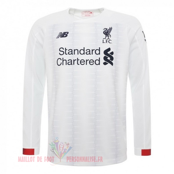 Maillot Om Pas Cher New Balance Exterieur Manches Longues Liverpool 2019 2020 Blanc
