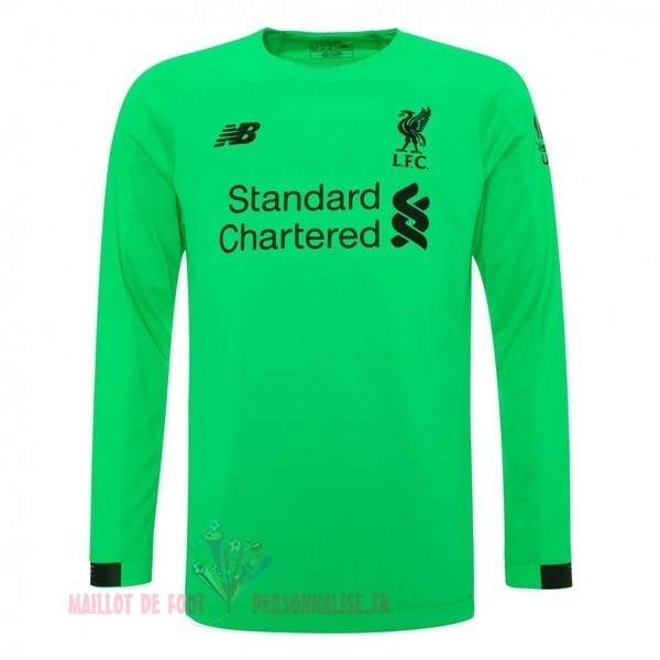 Maillot Om Pas Cher New Balance Manches Longues Gardien Liverpool 2019 2020 Vert
