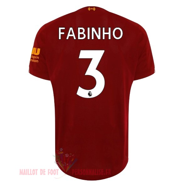 Maillot Om Pas Cher New Balance NO.3 Fabinho Domicile Maillot Liverpool 2019 2020 Rouge