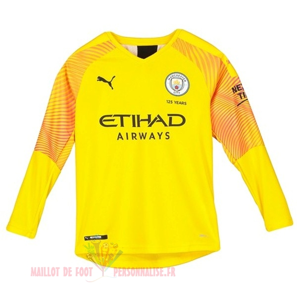 Maillot Om Pas Cher Puma Third Manches Longues Gardien Manchester City 2019 2020 Jaune