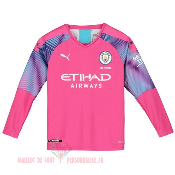 Maillot Om Pas Cher PUMA Manches Longues Gardien Manchester City 2019 2020 Rose