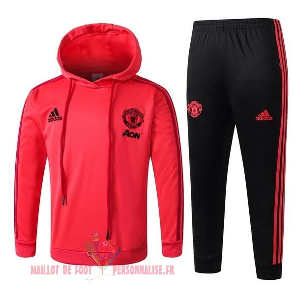 5859e65af7294 Maillot Om Pas Cher adidas Survêtements Enfant Manchester United 18-19 Rouge