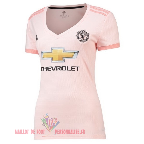 Maillot Om Pas Cher adidas Exterieur Maillots Femme Manchester United 2018-2019 Rose