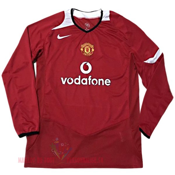 Maillot Om Pas Cher Nike DomiChili Maillot Manches Longues Manchester United Vintage 2005 2006 Rouge