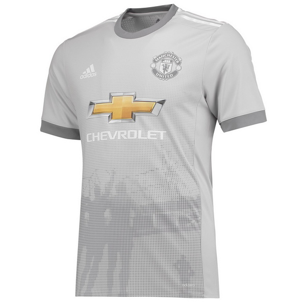 Maillot Om Pas Cher adidas Thailande Third Maillots Manchester United 2017 2018 Gris