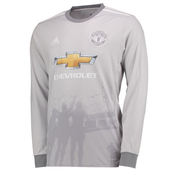 Maillot Om Pas Cher adidas Third Manches Longues Manchester United 2017 2018 Gris