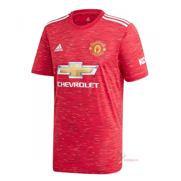 Maillot Om Pas Cher adidas Thailande Domicile Maillot Manchester United 2020 2021 Rouge
