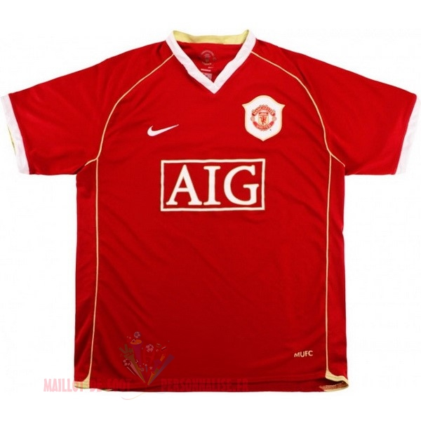Maillot Om Pas Cher Nike Domicile Maillot Manchester United Rétro 2006 2007 Rouge