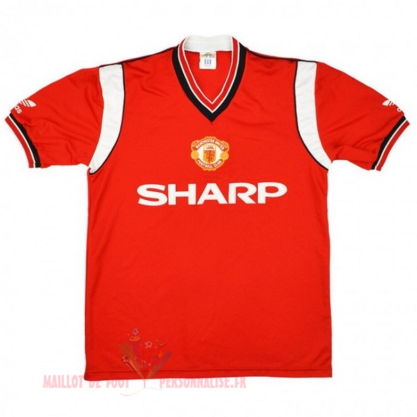 Maillot Om Pas Cher adidas Domicile Maillot Manchester United Rétro 1984 1986 Rouge