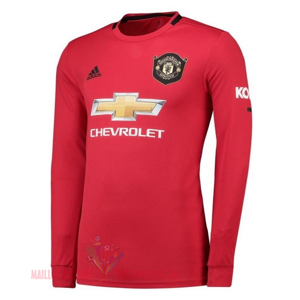 Maillot Om Pas Cher adidas Domicile Manches Longues Manchester United 2019 2020 Rouge