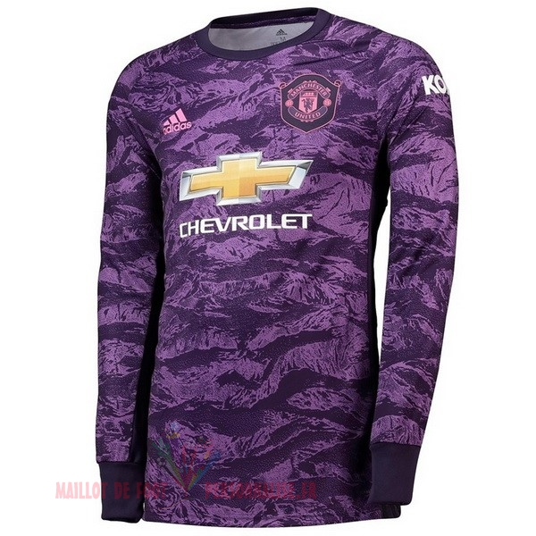 Maillot Om Pas Cher adidas Manches Longues Gardien Manchester United 2019 2020 Purpura