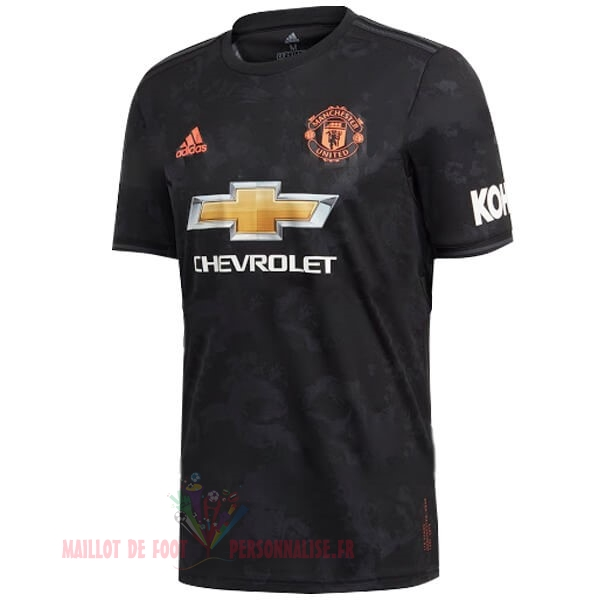 Maillot Om Pas Cher adidas Thailande Third Maillot Manchester United 2019 2020 Noir