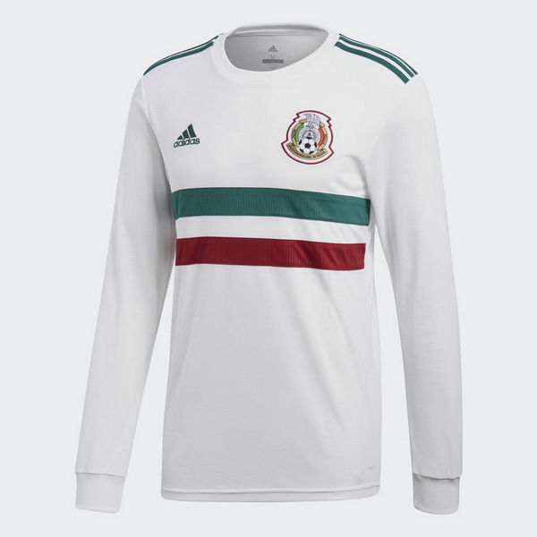 Maillot Om Pas Cher adidas Exterieur Manches Longues Mexico 2018 Blanc