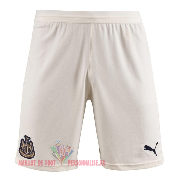 Maillot Om Pas Cher PUMA Exterieur Shorts Newcastle United 2018-2019 Blanc