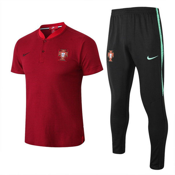 Maillot Om Pas Cher Nike Ensemble Polo Portugal 2018 Rouge