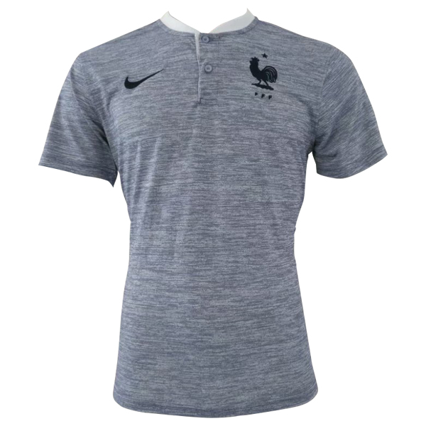 Maillot Om Pas Cher Nike Polo France 2018 Gris